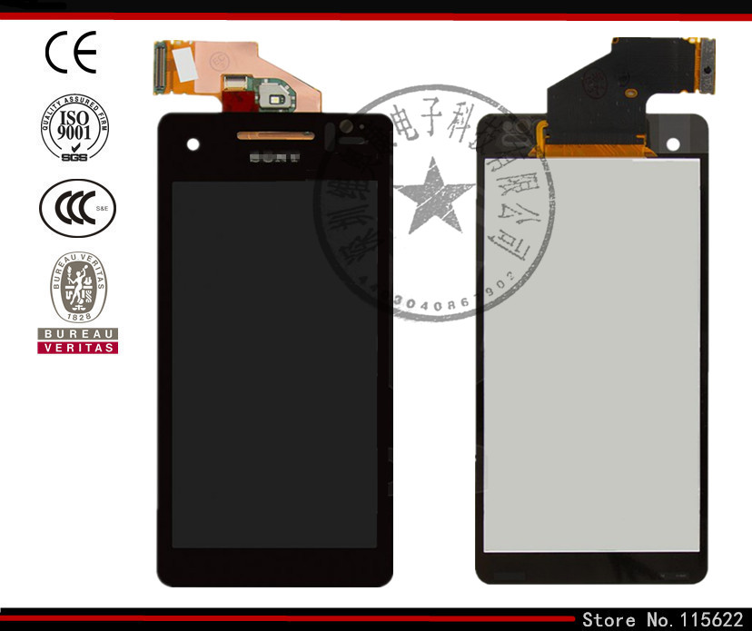 LCD display screen for Sony LT25i Xperia V Cell Phone, (black, with touchscreen,with Logo)<br><br>Aliexpress