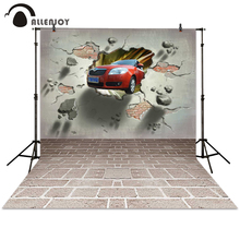 Allenjoy backgrounds for photo studio 3D car wall brick gray backdrop for photographing children(China)
