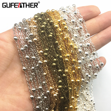 GUFEATHER DIY chain Bangle making materials making sexy waist Peas chain Shiny products beads:4mm chain :2mm 500cm(China)