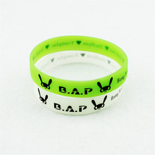 Wholesale KPOP Fan B.A.P Best Absolute Perfect BAP Team Logo Noctilucent Sport Silicone Friendship Wristband Bracelets Y2298(China)