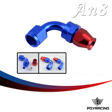 PQY RACING- High Quality PTEF AN8 AN-8 90 DEGREE REUSABLE SWIVEL TEFLON HOSE END FITTING AN8 PQY-SL6090-08-311