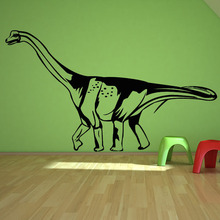New Design Stick On Wall Decor Decals Saltasaurus Hollow Out Black Printed Home Decor Wall Stickers Dinosaur(China)