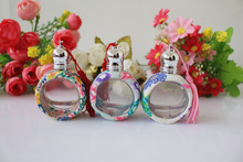 10pcs/lot roll on bottle 9ml polymer clay perfume bottle refillable small essential oil glass bottle portable