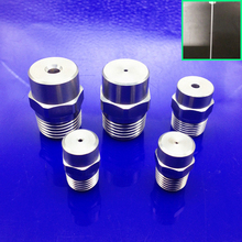 1/8 Inch straight line steel nozzle 0 degree 0.2 0.3 0.8 1 1.2 1.5 2mm hole pressured car auto Metal cleaning water jet mist
