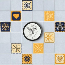 20 Pcs/Set Waterproof PVC DIY Mosaic Wall Tiles Stickers Waist Line Wall Sticker Kitchen Adhesive Bathroom Toilet Wallpaper(China)