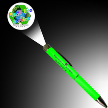 LED laser LOGO projection pens Cartoon projection ballpoint pen with LOGO and some text print for promotional Advertising gifts(China)