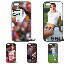 For iPhone 4 4S 5 5C SE 6 6S 7 Plus Galaxy J5 J3 A5 A3 2016 S5 S7 S6 Edge Alex Morgan American Soccer star Cell Phone Cover