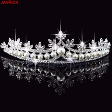 Rhinestone Pearl Tiara Crystal Hair Accessories Crown Wedding Bridal Headband #H058# Beads
