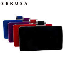 HOT women evening bags candy messenger bag purse clutch bag for Christmas gift wedding handbags
