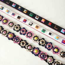 Hot fashion personality flower rivet handbags belts women bags strap women bag accessory bags parts pu leather icon bag belts