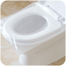 50Pcs/100Pcs Travel Safety Plastic Disposable Toilet Seat Cover Waterproof Individually packaged 40*48cm(China)