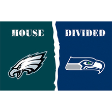 3ftx5ft 100D Polyester Philadelphia Eagles and Seattle house divided flag Banner with metal Grommets 711074(China)