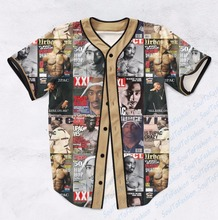Real AMERICAN USA Size Custom made Fashion 3D Sublimation Print Best of Tupac Baseball Jersey Plus Size