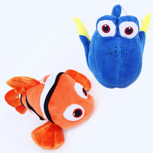 Disney Toys 2pcs/Set 18cm Finding Nemo Plush Toys Nemo And Dory Fish Stuffed Animal Soft Plush Toy Doll For Baby Gift(China)
