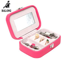Fashion Jewelry Storage Organizer Mini Portable Jewellery Display Box Ring Earrings Bracelet Storage Box Packing Case Holder