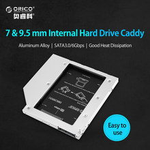 ORICO L95SS CD-ROM Space SATA to SATA 2 Hard Disk Drive 2.5 Internal HDD Caddy Enclosure for Laptops-Silver(China)