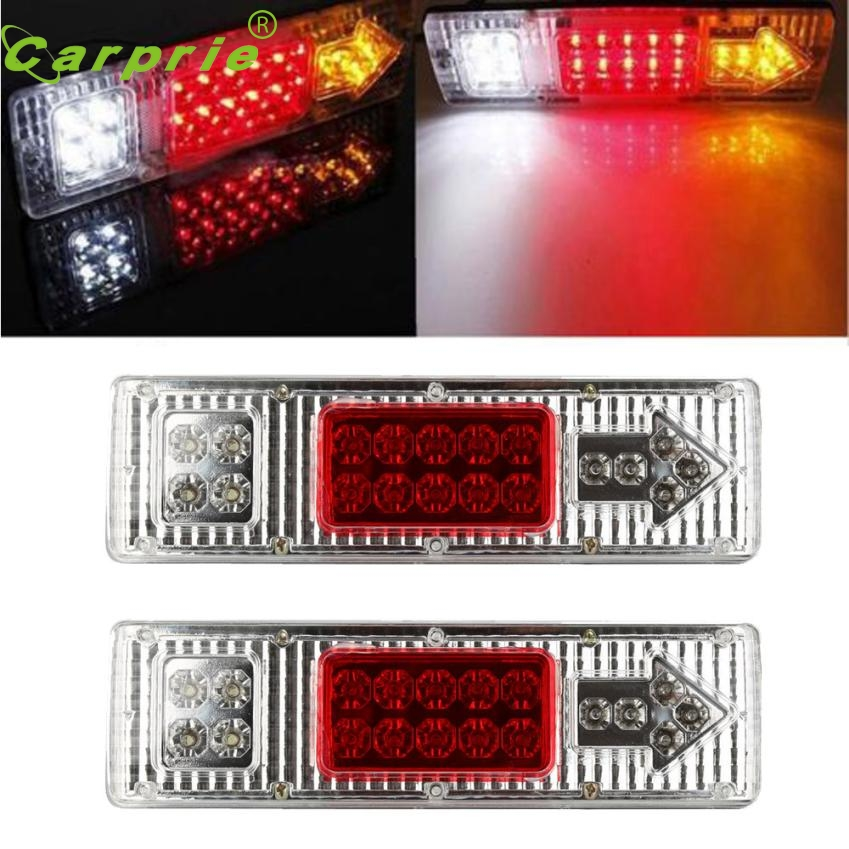New Arrival 1 pair 19 LED Tail Light Car Truck Trailer Stop Rear Reverse Turn Indicator Lamp at25<br><br>Aliexpress