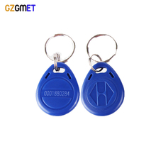 GZGMET 15 Piece  125KHZ RFID Key  Keyfobs Token Keychain Tags access control In Blue with Printed Number