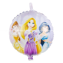 10pcs/lot princess mylar balloons ,birthday party decoration helium ballons,The sleeping beauty foil globos hot selling(China)