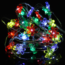 2/3M 20/30 LED Sunflower String Lights Outdoor sun flower Lighting Lamp Fairy Christmas Decorative Light for Party Holiday P20(China)