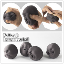 Anti-stress Human Face Stress Relieve Pressure Vent Wreak Reduce Tool New Funny Toy Adult Relax Gift(China)