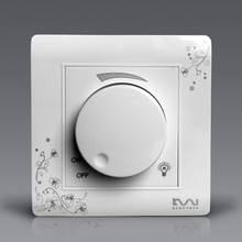 Free Shipping, Kempinski Brand Luxury Wall Dimmer Switch, Ivory White, Brief Art Fashion Light Switch, AC 110~250V
