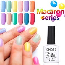 CNDSE Macaron Series 10ml Nail Polish Colorful  Vernis Semi Permanent Gel Nail Polish DIY Nail Art