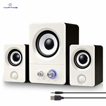 Notebook Desktop Computer Mini Spesker USB Powered Audio Multimedia Home Computer Speaker Active Multimedia Stereo Subwoofer