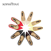 Buy SOPHITINA Woman High Heel Pumps Basic Model Sheepskin Leather Thin Heel Sexy Pointed Toe Pumps Party Red Wedding Shoes Women D30 for $39.76 in AliExpress store