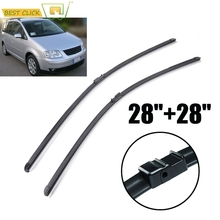 MISIMa Windshield Windscreen Wiper Blades For VW Touran Front Window Wiper 2003 2004 2005 2006 Car Accessories Rubber 28''+28''(China)
