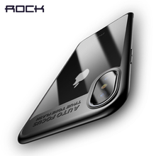 For iPhone X Case, ROCK Slim Full Protective PC & TPU Silicone Cover Case for iPhone X Coque Funda shell case for iPhoneX