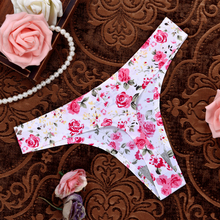 Hot Sale Rose Sexy Women Cotton G String Leopard Thongs Low Waist Sexy T Panties Flower Briefs Ladies Seamless Tanga Underwear
