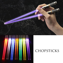 1 Pair LED Light Up Chopsticks Sticks Dinning Room Dinner Party Tableware Funny
