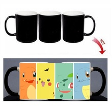 Pokemon Magic Mug Custom Photo Heat Color Changing Morph Mug 300ML Coffee Cup Beer Milk Mug With Cookie Gift Wholesale Cheap