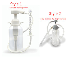 Buy Anal Douche Cleaner Enema Vagina Wash Bottle Tube Anal Sex Toys Men Woman Gay Nozzle Pump Enema Bag Sex Products Sexy Shop