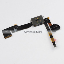 10pcs/lot Original Headphone Jack Audio Flex Cable w/ SIM Card Slot Socket for iPad 2 3G Version Replacement Parts