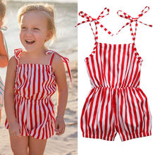 Children Girl Kids Clothing Girls Summer Clothes Holiday Beach Sleeveless Jumpsuit Playsuit One Pieces 2-7Y