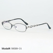 N8509 Full rim metal oval woman's optical spectacles with high quality optical frames eyewear eyeglasses(China)
