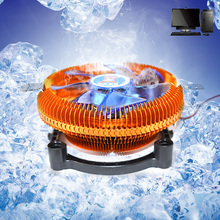 DC12V 3PIN Silent CPU Cooling Cooler Fan Heatsink Support Intel/AMD CPU With LED(China)