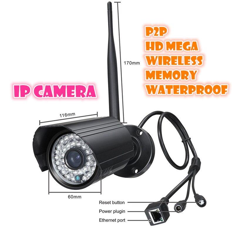720P waterproof outdoor Network CCTV WIFI IP camera Megapixel HD Wireless Digital Security camera IR Infrared Night Vision <br><br>Aliexpress