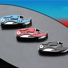 New Mini Pocket Steel Multi Functions Pocket EDC Folding Knife Key Chain Multifunctional Knife Survival Karambit Knife HR(China)