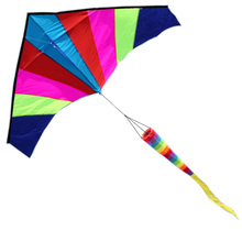 Best Large Delta Kite with Tail - Perfect for Relaxing of Fun At the Beach - Give It a Try! Good Flying That You Will Love It!(China)