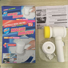 Handheld Electric Cleaning Brush for Bathroom Tile and Tub Kitchen Washing Tool