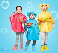 Top Quality100% Original Kids RainWear Poncho Cartoon Design Waterproof Unisex Raincoat For Baby Cute Children's Rain Cape