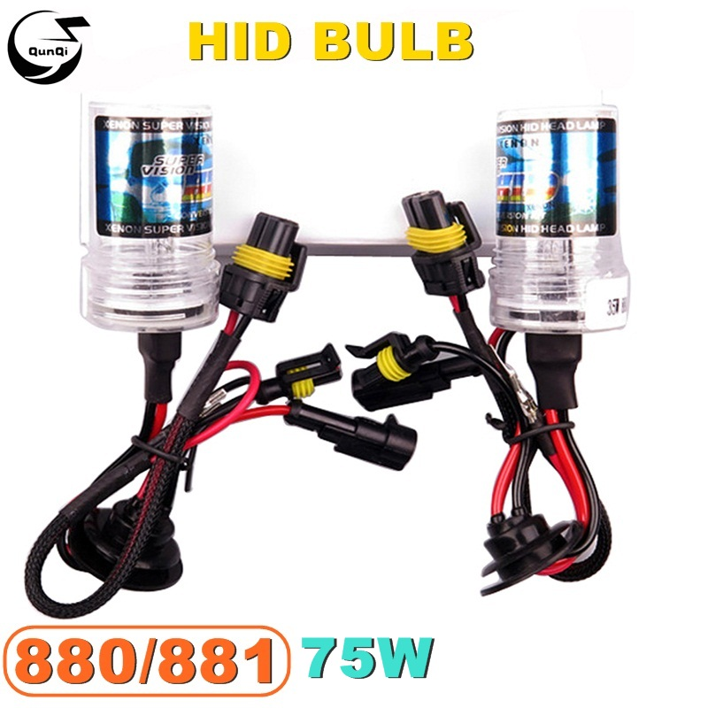 880/881 75W 12V Car HID Xenon Bulb Replacement Headlight Lamp Auto Styling Motorcycle Light Source 4300K 5000K 6000K 10000K