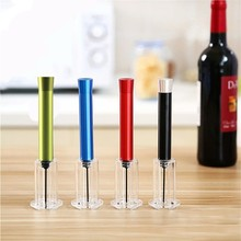 Dropshopping 1Pcs Red Wine Opener Air Pressure Cork Popper Bottle Pump Corkscrew Cork Out Tool Kitchen Dining Bar Supplies(China)