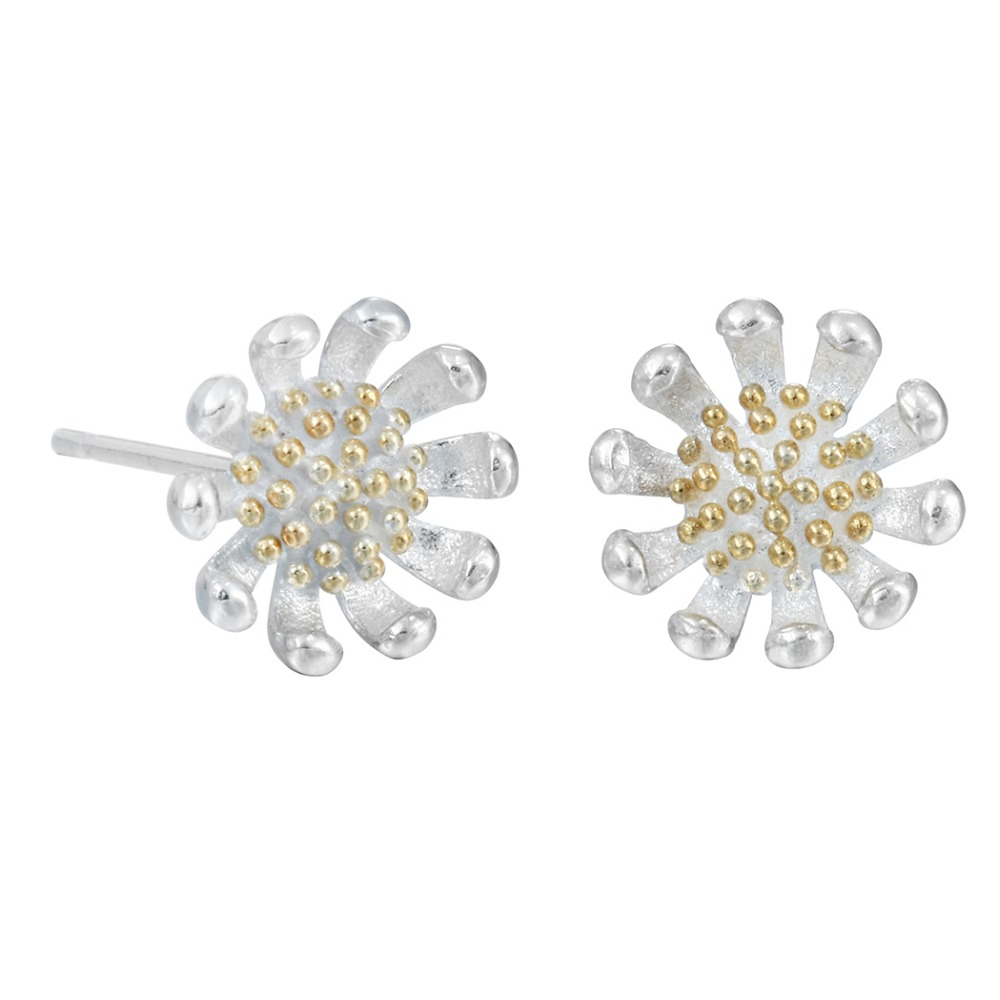 QIAMNI-925-Sterling-Silver-Chrysanthemum-Flower-Piercing-Stud-Earring-for-Women-Girl-Christmas-Accessories-Jewelry-Pendientes