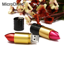 Beautiful Lipstick Red / Rose pink USB Flash Drive disk 64GB 32GB 16GB 8GB 4GB Metal Lipstick memory sticks disk pen