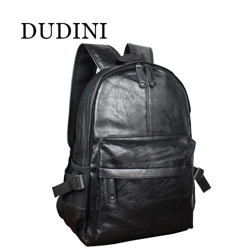 DUDINI Fashion Korean Style Men Backpack Top Quality Leather Double Shoulder Bags School Bag Book Rucksack Male Outstoor Tote<br><br>Aliexpress