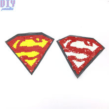 Superman Reverse Sequins Sew On Patches for Summer T Shirt clothes Clothing  Reversible Change Color Patch Applique c5372692510e